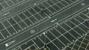 pave a parking lot